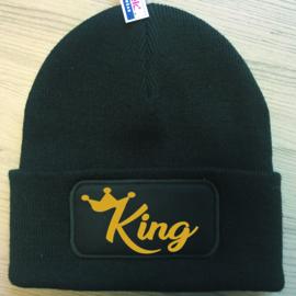 Muts King + Kroon (Goud)