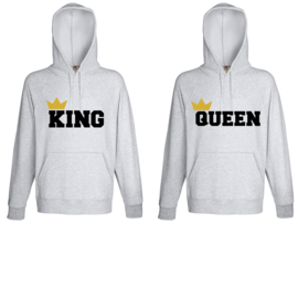 Hoodie King & Queen + Couronne 2k18 (Gris)