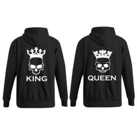 Hoodie King & Queen Skull