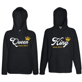 Hoodie King & Queen since + Kroon
