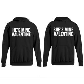 Hoodie He's Mine Valentine & She's Mine Valentine