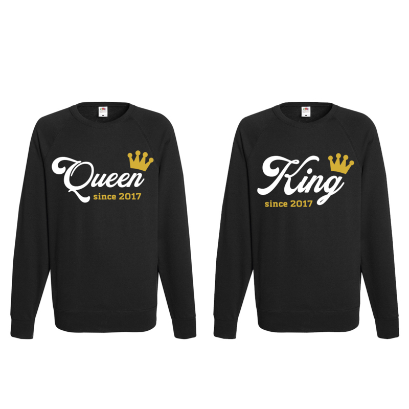 Sweater King & Queen since + Couronne