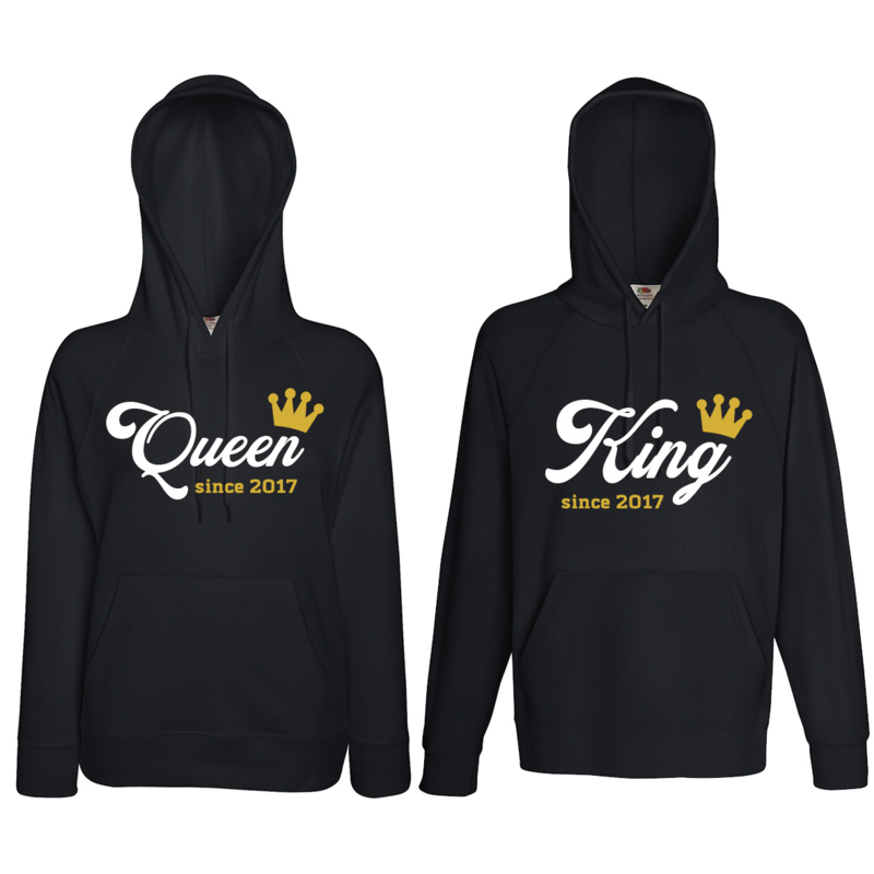 Hoodie King & Queen since + Couronne