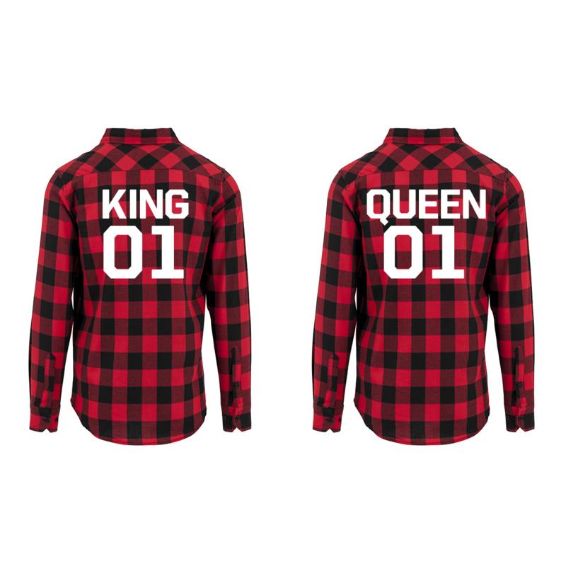 Hemden King & Queen + Rugnummer