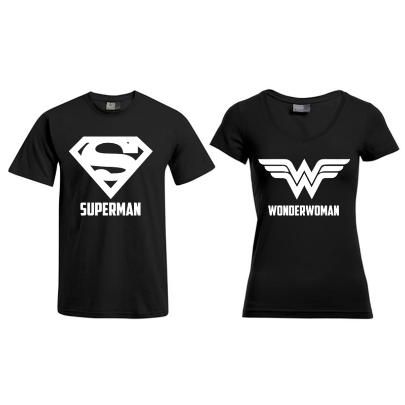 T-shirt Superman & Superwoman