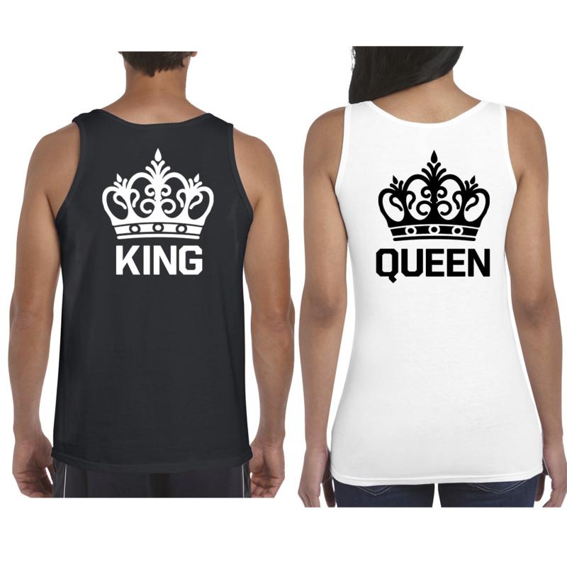 Débardeur King & Queen + Couronne (Black & White)