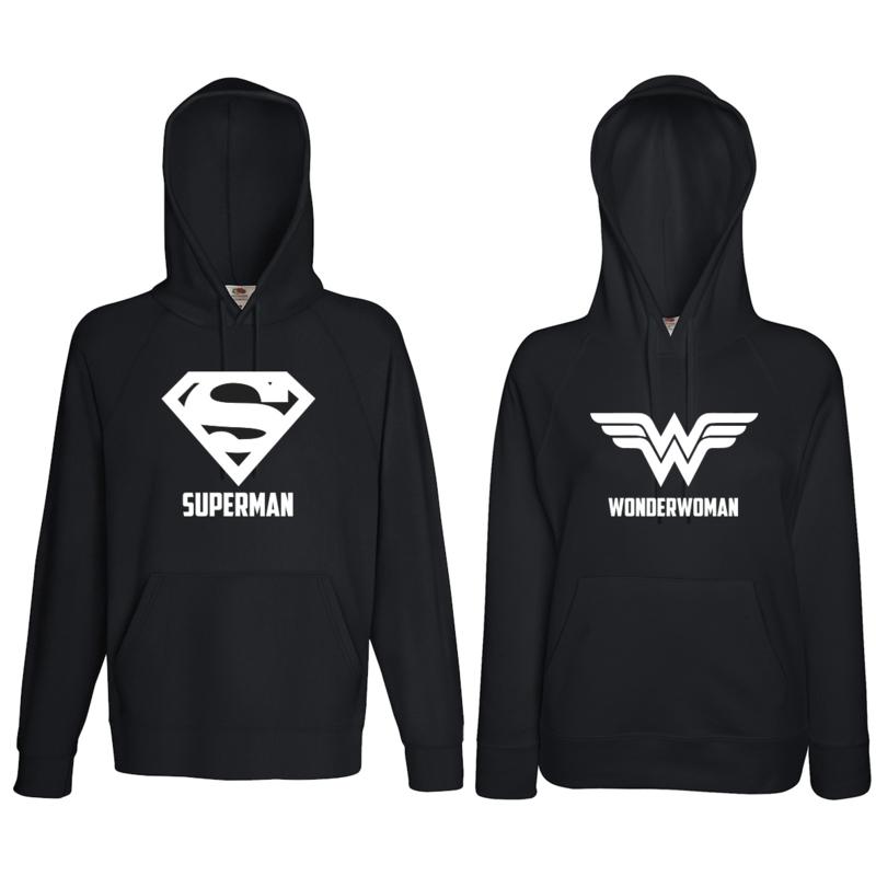 Hoodie Superman & Superwoman