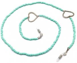Zonnebrilkoord beads en heart