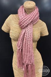 Metallic sjaal roze