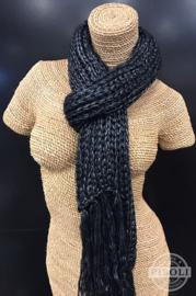 Metallic sjaal zwart