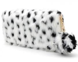 Portemonnee fake fur leopard