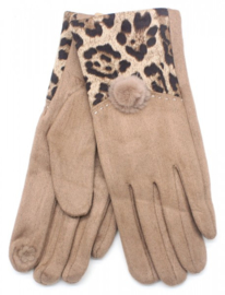 Handschoen animal bruin