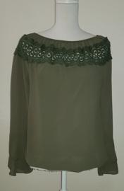 Shirt met kant groen
