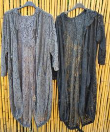 Kanten vest zwart of grijs