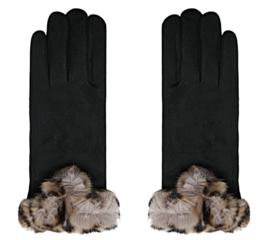 Handschoen Fur zwart