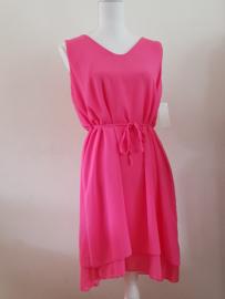 Tuniek/jurk met riem roze