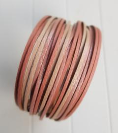 Armband stroken roze