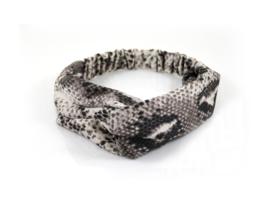 Haarband snake bruin