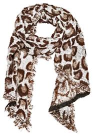 Sjaal soft bruin/grijs