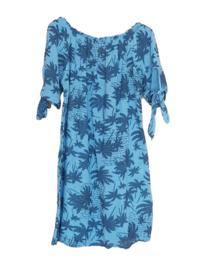 Tuniek/jurk palmboom blauw