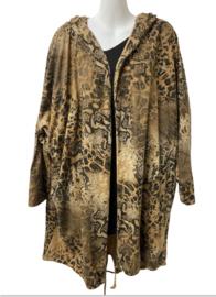 Vest panterprint beige of camel