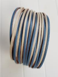 Armband stroken blauw