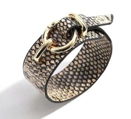 Armband snake beige