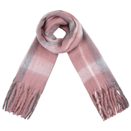 Sjaal Blokken roze