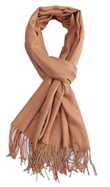 Sjaal lichtbruin