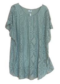 Top lace groen