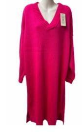 Gebreide Jurk Sascha neon roze