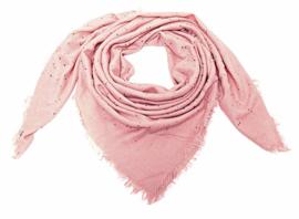 Sjaal roze triangel