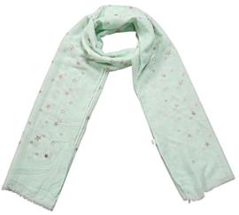 Sjaal glitter ster groen