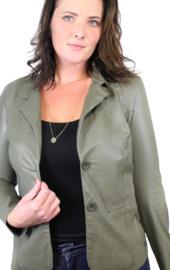 Angelle Milan blazer leatherlook groen