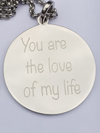 "IXXXI hanger ""you are the love...""zilver"