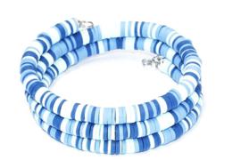 Armband surf spiraal blauw