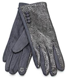 Handschoen snake grijs