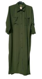 Lange blouse Maxi groen of zwart