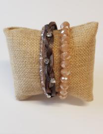Set armbanden bruin