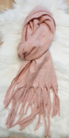Sjaal glitter roze