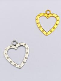 IXXXI charm hart met krystal steentjes