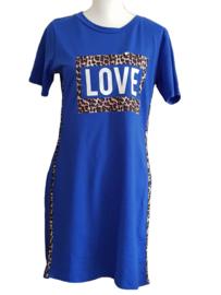Jurk Love blauw