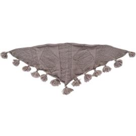 Sjaal pompom bruin