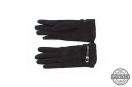 Handschoenen met riempje zwart