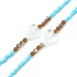 Zonnebril beads en leaves