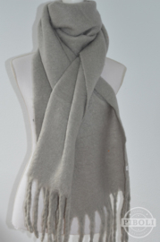 Sjaal grijs knus