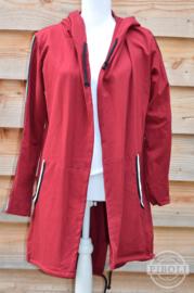 Vest met streep rood