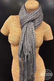 Metallic sjaal grijs