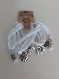 Ibiza armband Buddha wit