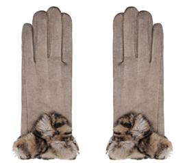 Handschoen Fur beige
